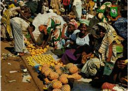 REPUBLIQUE DE COTE D'IVOIRE  ABIDJAN  AU  MARCHE'     (VIAGGIATA) - Costa D'Avorio