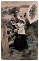 A-734, Postcard, Acacia - Platonic Love - Trees