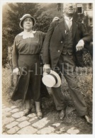 Photo Ancien / Foto / Old Photo / Woman / Lady / Femme / Homme / Man / Couple / 1930s / 1932 - Personas Anónimos