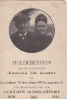 BOORTMEERBEEK-GOUDEN BRUILOFT-1926-DE COSTER-VAN DEN WIJNGAARD-GELEGENHEIDSLIED OP VERSO-ZIE 2 SCANS-MOOI DOCUMENT ! ! ! - Boortmeerbeek