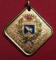 MEDAGLIA  SPORT  HOCKEY SU PRATO  CITTA' DI MONFALCONE  PRIMO TROFEO INTERNAZIONALE 1981 - D.3,5 Cm - CON CUSTODIA - Professionali/Di Società