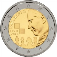 ESTONIE - 2 Euro 2016 - Paul Keres - UNC - EURO