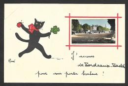 BORDEAUX BASTIDE Fantaisie Chat Noir (René Jean Pierre) Gironde (33) - Bordeaux