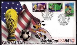 GIBRALTAR  FDC     Cup  1994    Football  Soccer  Fussball - Coupe Du Monde