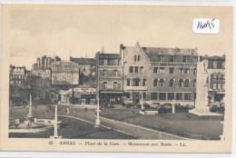 CPA- 16095- 62- Arras-Place De La Gare - Monument Aux Morts-Envoi Gratuit - Arras