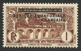 French Equatorial Africa, 1 C. 1936, Scott # 11, MH. - A.E.F. (1936-1958)