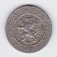 BELGIQUE LEOPOLD Ier   10 CENTIMES  ANNEE 1863 TYPE CUPRO-NICKEL   LOT 253 - 1831-1865: Léopold I