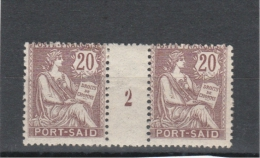 Port-Saïd_ Millésimes _ 20c Sage - 1902