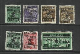 OCCUPAZIONE JUGOSLAVIA YUGOSLAVIA FIUME 1945 SURCHARGE ITALY SOPRASTAMPATI D'ITALIA SERIE COMPLETA FULL SET USATA USED