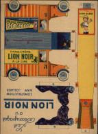 PUBLICITES -  Carte à Découper - CIRAGE LION NOIR - Construction Sans Collage - Publicités