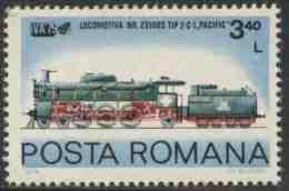 Romania Romana Rumänien 1979 Mi 3678 ** Steam Locomotive No. 231085, Type 2-C-1, Pacific / Dampflokomotive - Treinen
