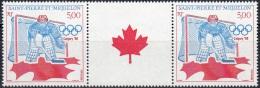 Saint-Pierre Et Miquelon 1988 Yvert 487A Neuf ** Cote (2015) 7.30 Euro Jeux Olympiques D'hiver Calgary Hockey Sur Glace - St.Pierre & Miquelon
