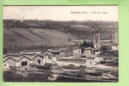 ROYBON - Vue De La GARE  : Les Wagons Sur Les Voies Marchandises - 2 Scans - Roybon
