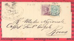 """FL1681 - COMUNI D´ITALIA-STAZZONA-GERMASINO(CO)-Piego Viagg.nel 1929 Affran.con 1 Valore Da C.20""""Michett""""1926+c.5""""Leoni"""" - Storia Postale"""