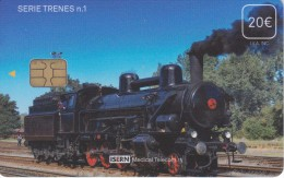 ISN-205 TARJETA DE ESPAÑA DE ISERN DE 20 EUROS DE LA SERIE TRENES Nº1 (TREN-TRAIN-ZUG) - Eisenbahnen