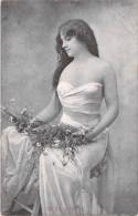 Spectacle- GILDA DARTHY (Artiste Actrice Théâtre)( Fleurs Robe épaules Nus ) * PRIX FIXE - Artistes