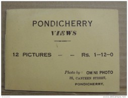French India, Pondichery, Original Photograph In Booklet, Pondicherry View Inde Indien - Inde