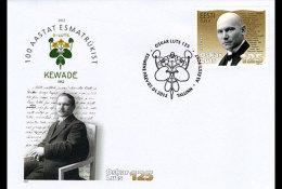 Estonia 2012 First Day Cover - Oskar Luts - Writer - 125th Birth Anniversary - Estonie