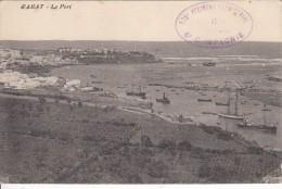 MAROC -  RABAT - Le Port Avec Tampon Militaire  128 E Régiment Territorial  6e Compagnie - Rabat