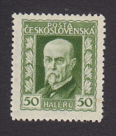 Czechoslovakia, Scott #96, Mint Hinged,  President Masaryk, Issued 1925 - Unused Stamps