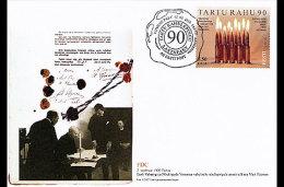 Estonia 2010 First Day Cover - 90th Anniversary Of Tartu Peace Treaty - Estonie