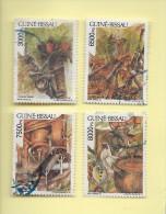 TIMBRES - STAMPS - GUINÉE-BISSAU / GUINEA-BISSAU -1995- PALM DENDEM - TIMBRES OBLITÉRÉE - Guinée-Bissau