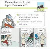 "FICHE TRANSPORTS TERRESTRES  N° 32  "" TINTIN  ""  ( Déssin: HERGE )  L'OREILLE CASSEE  - 15X15 - Hergé"