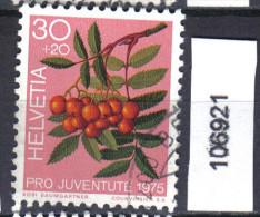 Schweiz, Zst. PJ 254, Mi. 1064 O Vogelbeere - Toxic Plants