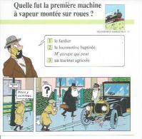 "FICHE TRANSPORTS TERRESTRES  N° 37  "" TINTIN  ""  ( Déssin: HERGE )  L´OREILLE CASSEE  - 15X15 - Hergé"