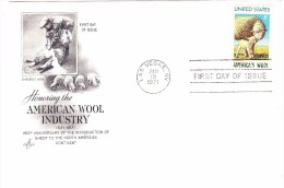 1971 USA America's Wool 6c First Day Cover - First Day Covers (FDCs)