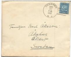 ESTADOS UNIDOS USA CC HANOVER SELLO JUEGOS OLIMPICOS LOS ANGELES 1932 AL DORSO VIÑETA TUBERCULOSIS - Verano 1932: Los Angeles