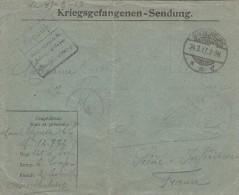 Lettre De Prisonnier Français En Allemagne 1917 - QUEDLINBURG --Kriegsgefangenensendung