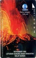 Telefonkarte Indonesien - Landschaft - Krakatau - Ausbruch - Volcanos