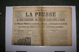 LA PRESSE N°8022   Du 27/07/1914 - Zeitungen
