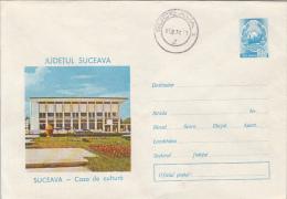 35230- SUCEAVA CULTURE HOUSE, COVER STATIONERY, 1976, ROMANIA - Interi Postali
