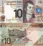 SCOTLAND  10 Pounds  Clydesdale Bank   PNew  25th Jan  2013     UNC - [ 3] Scotland