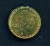 ARGENTINA  -  1992  25c  Circulated Coin - Argentina