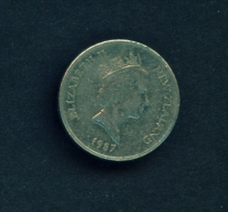 NEW ZEALAND  -  1987  5c  Circulated Coin - New Zealand