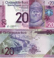 SCOTLAND  20 Pounds  Clydesdale Bank   New Sign.+  NEW Date 11th  July   2015    UNC - Scozia