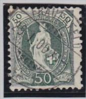 Heimat TG Frauenfeld 1906-05-29 Voll-O Stehende Zu#90A M#78C - 1882-1906 Armoiries, Helvetia Debout & UPU