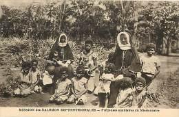 Pays Divers- Ref E314- Salomon -mission Des Salomon Septentrionales  -carte Bon Etat - - Solomon Islands