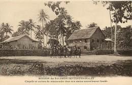 Pays Divers- Ref E313- Salomon -mission Des Salomon Septentrionales  -carte Bon Etat - - Solomon Islands