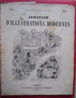 - ALMANACH D'ILLUSTRATIONS MODERNES 1865 - PAGNERRE LIBRAIRE EDITEUR PARIS RUE DE SEINE - - Calendriers