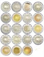 19 Munten - Pieces   2 Euro Com. 30 Jaar Europese Vlag  Al De Munten Zijn Leverbaar - Les 19 Pieces Sont Livrable !! UNC - Slovaquie