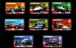 GUERNSEY - 2007  BRITISH  F1  CHAMPIONS  SET  MINT NH - Guernesey