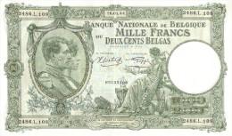 Mille Francs Ou Deux Cents Belgas - [ 2] 1831-... : Koninkrijk België