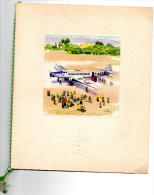 MENU -TRANSPORTS AERIENS INTERCONTINENTAUX LIGNE CASABLANCA -PARIS 1957  Cabine 1ER CLASSE - Menu