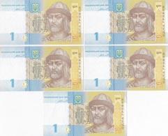 Ukraine - 1 Hryvnia 2014 100 Pcs UNC Bundle Lemberg-Zp - Ukraine