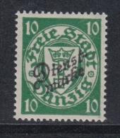 (02282) Danzig Dienstmarke 42 B Postfrisch Geprüft - Dantzig