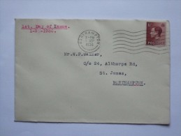 GB EDWARD VIII DEFINITIVE FIRST DAY COVER - 1902-1951 (Kings)